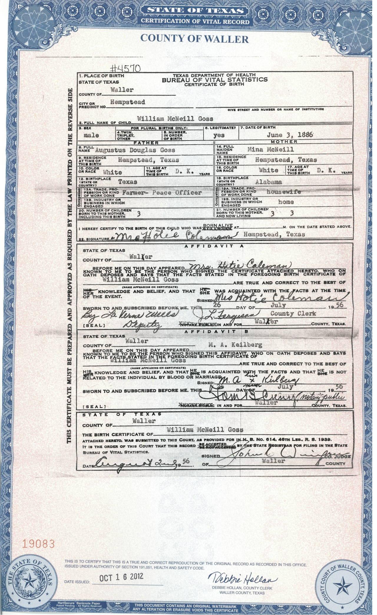 Eva edith raven william goss bio william gosss birth certificate aiddatafo Choice Image